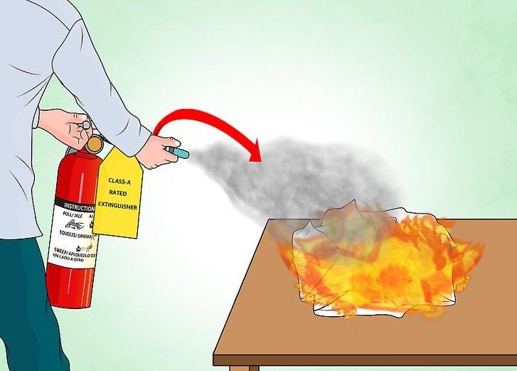 Чем можно потушить пожар картинки