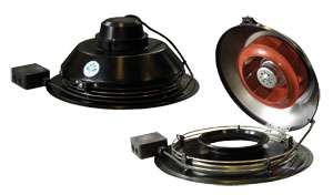 TFSR 200 EC Roof fan Black
